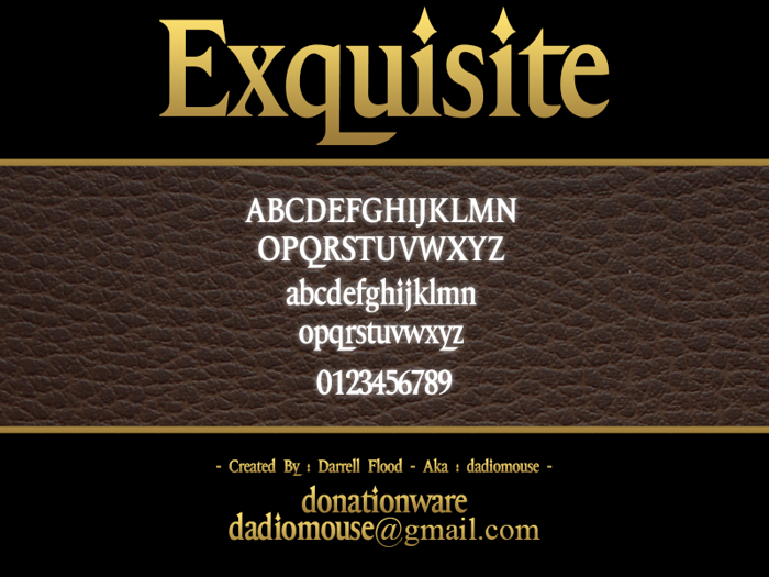 Exquisite Font poster