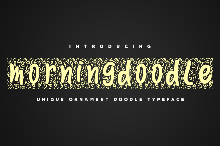 Morningdoodle Font poster