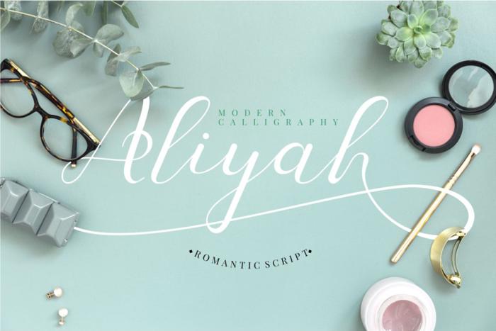 Aliyah Font poster