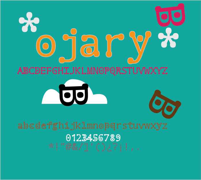 ojary Font poster