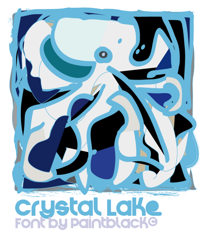 Crystal Lake Font poster