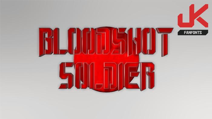 Bloodshot Soldier Font poster