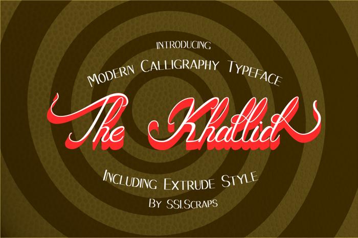The_Khallid Font poster