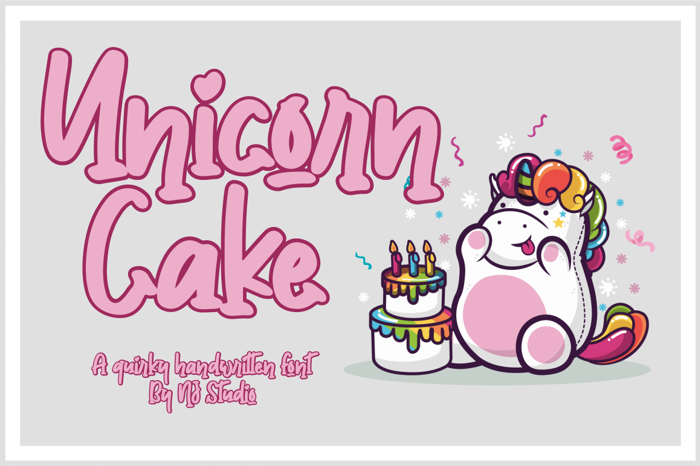 Unicorn Cake Font poster