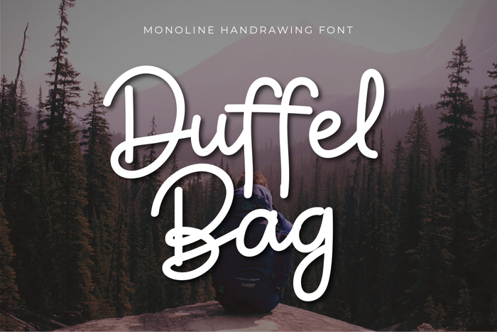 Duffel Bag Font poster