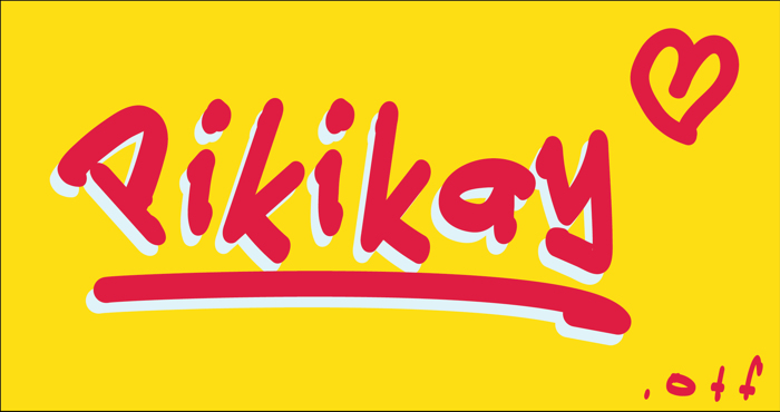 Pikikay Font poster