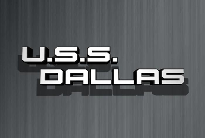 U.S.S. Dallas Font poster