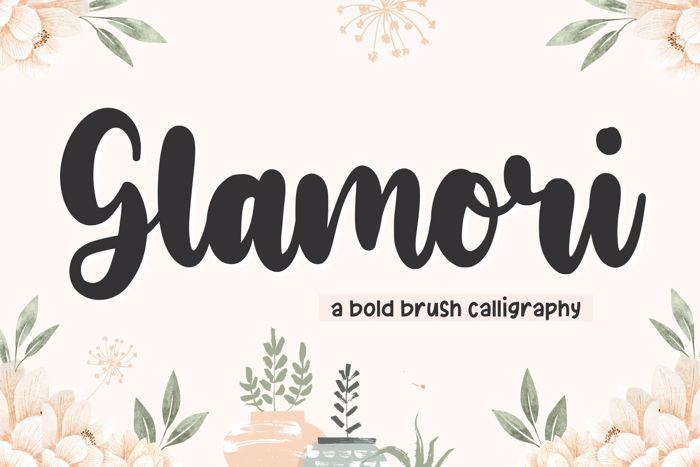 Glamori Font poster