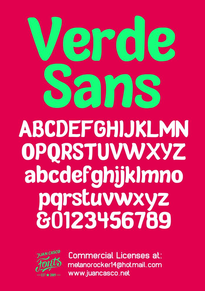 Verde Sans Neue Font poster