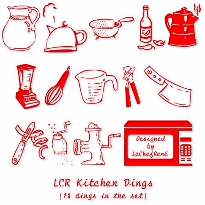 LCR Kitchen Dings Font poster