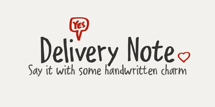 Delivery Note Font poster