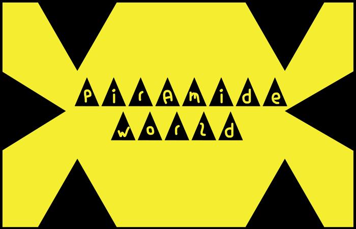 piramide world Font poster