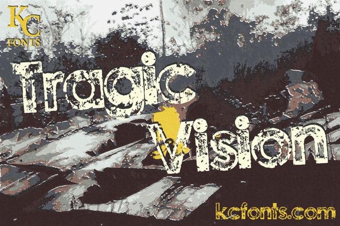Tragic Vision Font poster