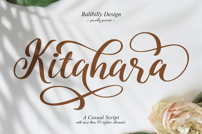 Kitahara Script Font poster