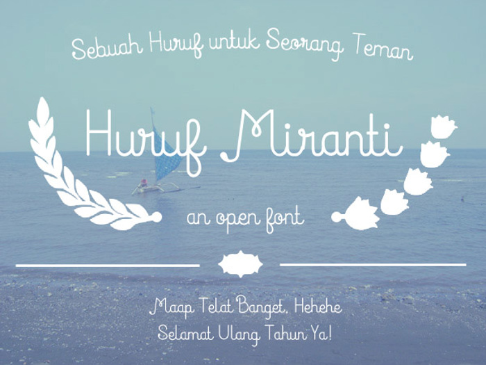 Huruf Miranti Font