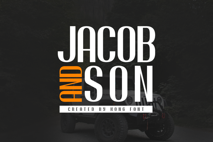 Jacob and son Font poster