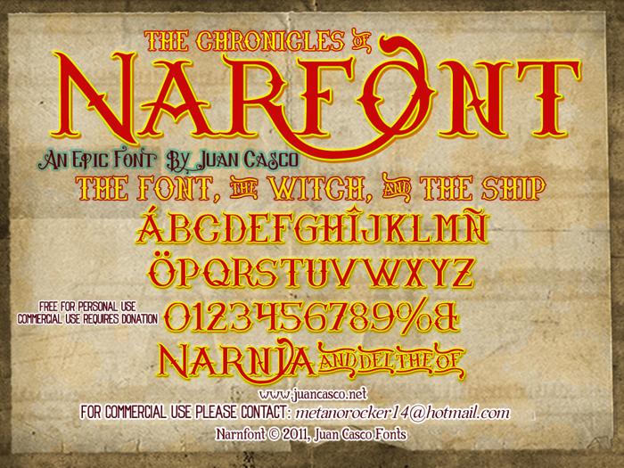 Narnfont Font poster