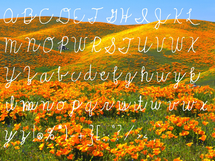 Rolling_Hills Font poster