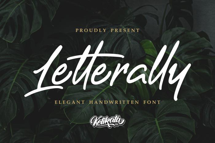 Letterally Handwritten Font poster