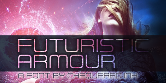 Futuristic Armour Font poster