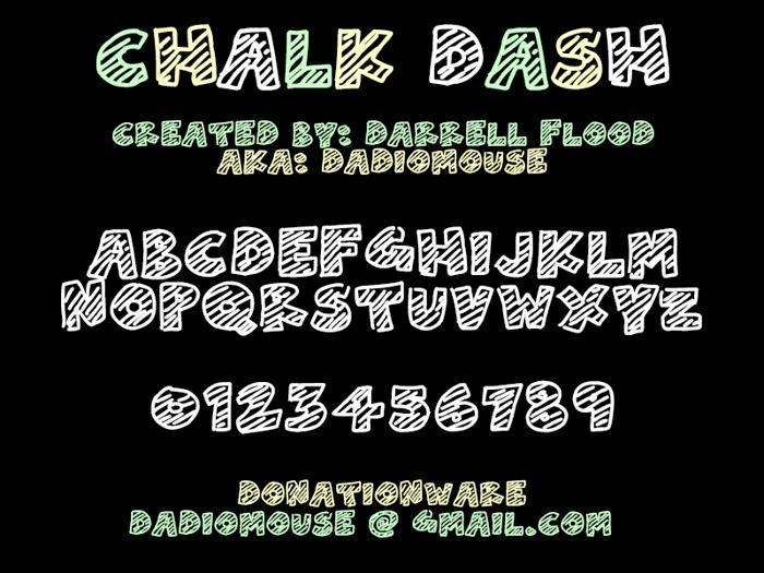 Chalk Dash Font poster