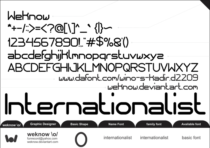 internationalist Font poster
