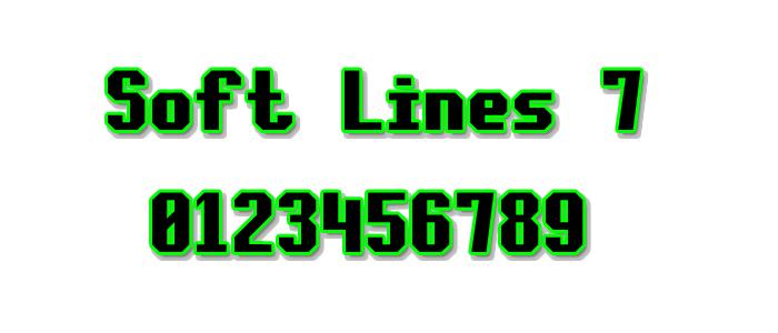 Soft Lines 7 Font poster