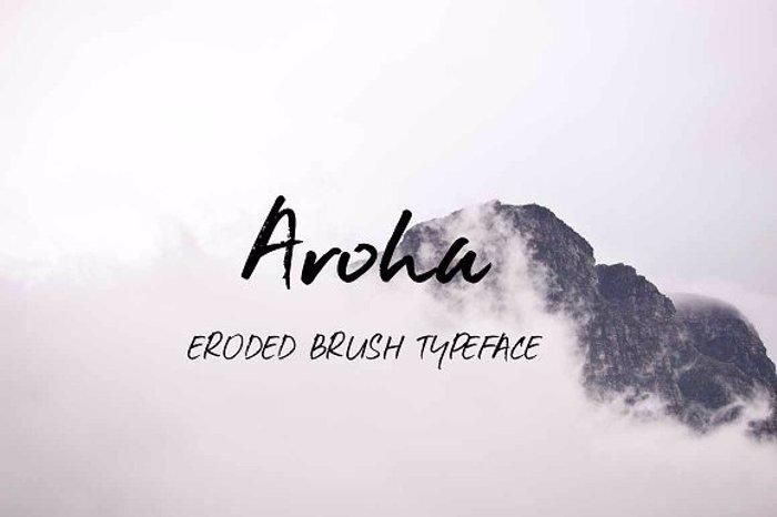 Aroha Font poster