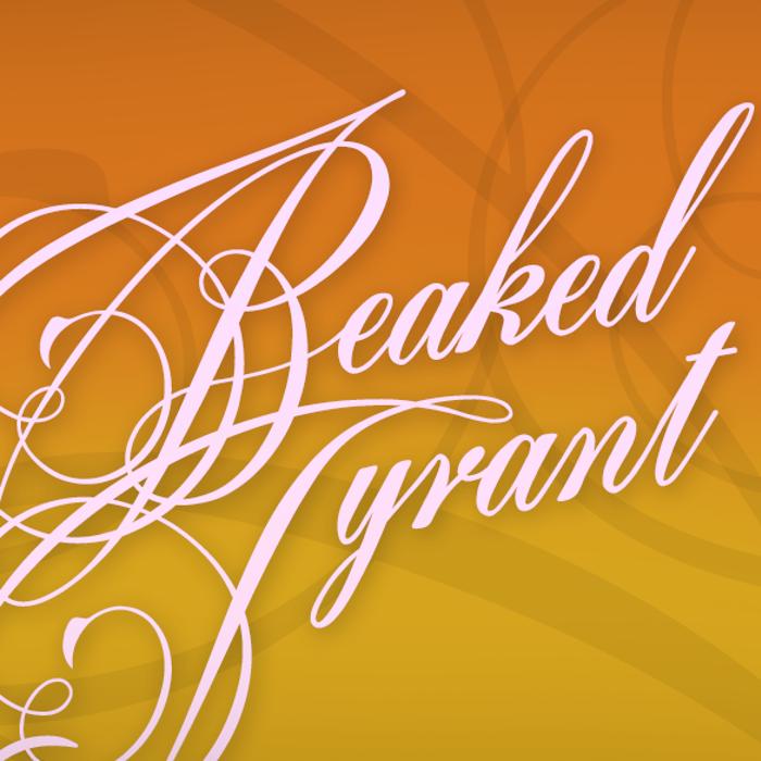 Beaked Tyrant Font poster