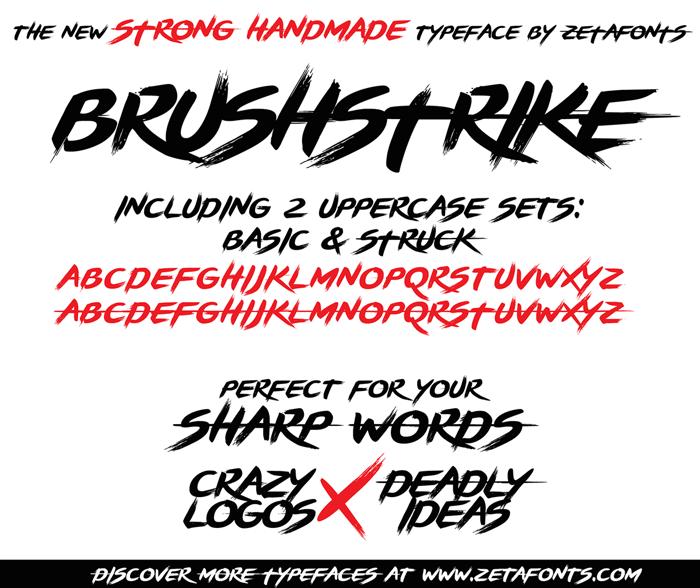 BRUSHSTRIKE Font poster
