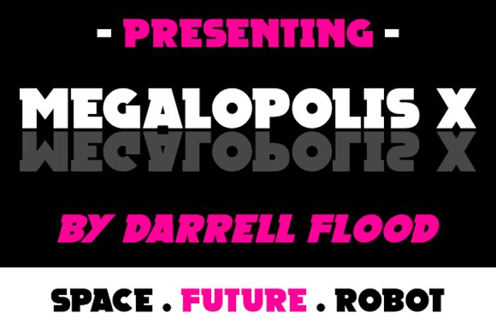 Megalopolis X Font poster