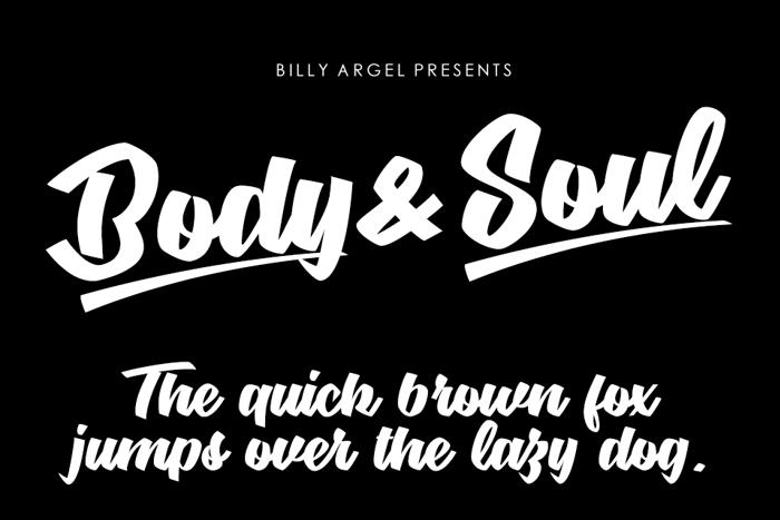 Body & Soul Font