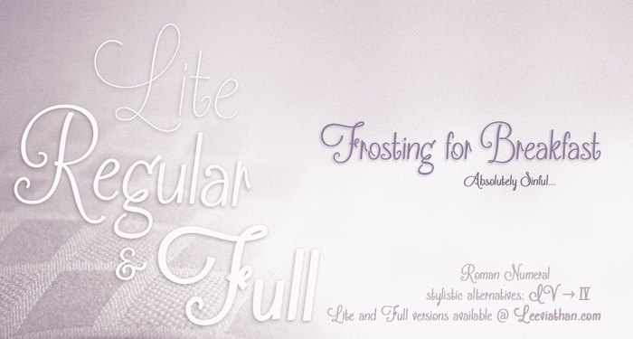 Frosting for Breakfast Font poster