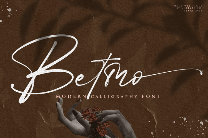 Betmo Font poster