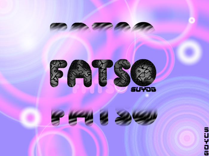 Fatso Font poster