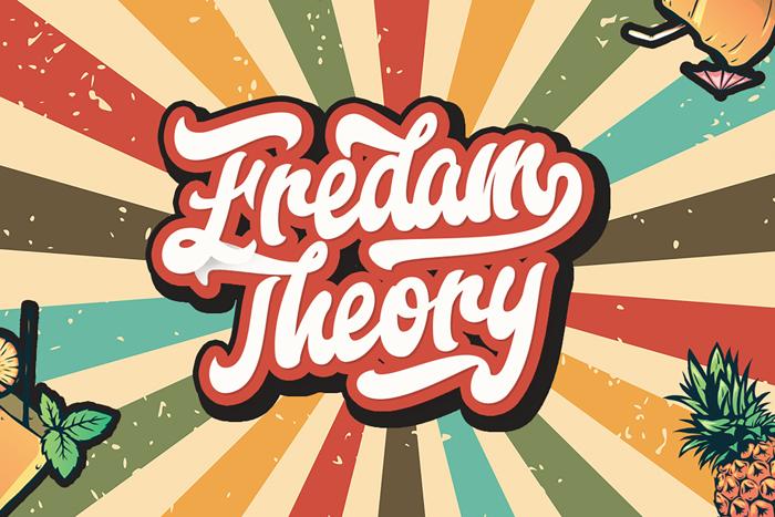 Fredam Theory Font poster