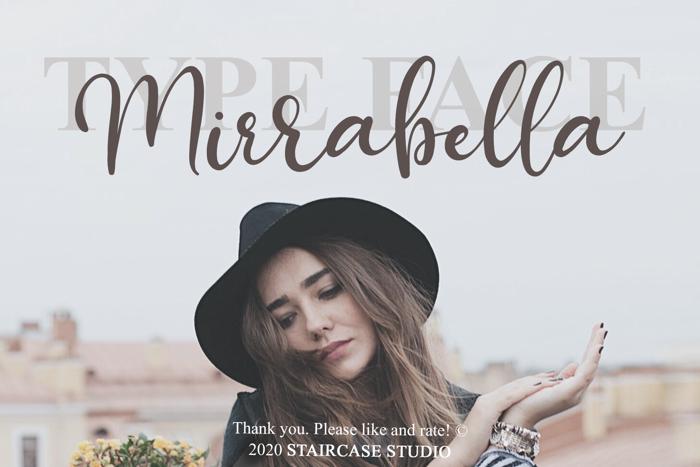 Mirrabella Font poster