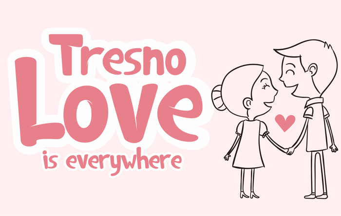 Tresno is love Font poster