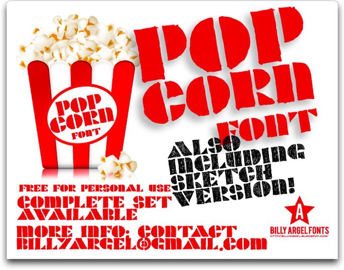 POPCORN Font poster
