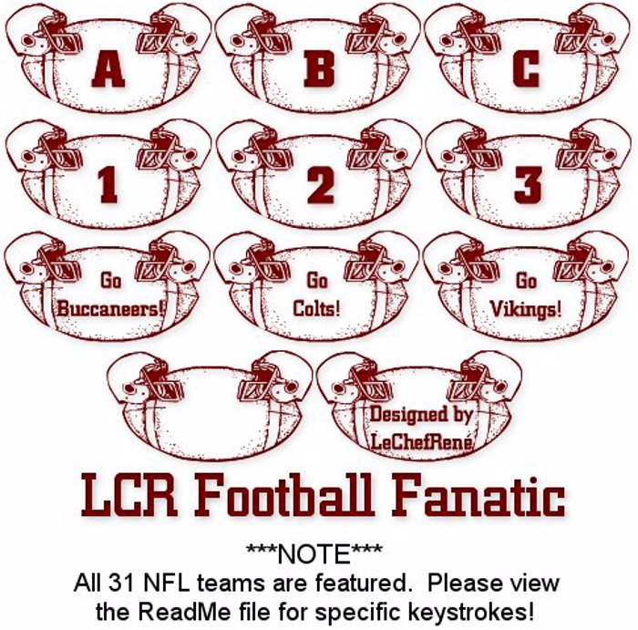 LCR Football Fanatic Font poster
