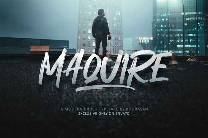 Maquire Font poster