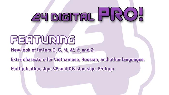 EFour Digital Pro Font poster
