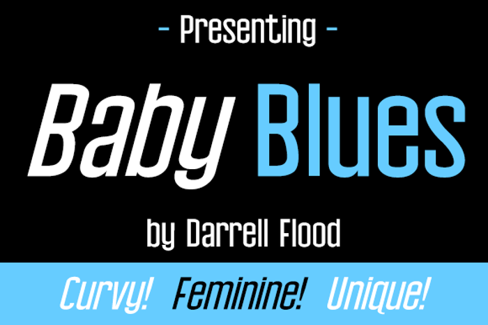Baby Blues Font poster