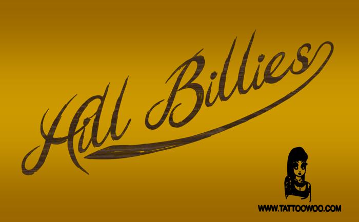 Hill Billies Font poster