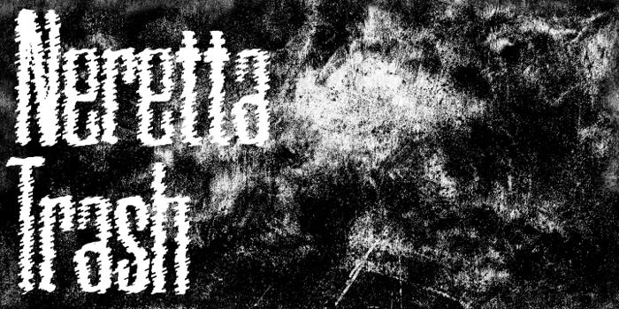 Neretta Trash Font poster