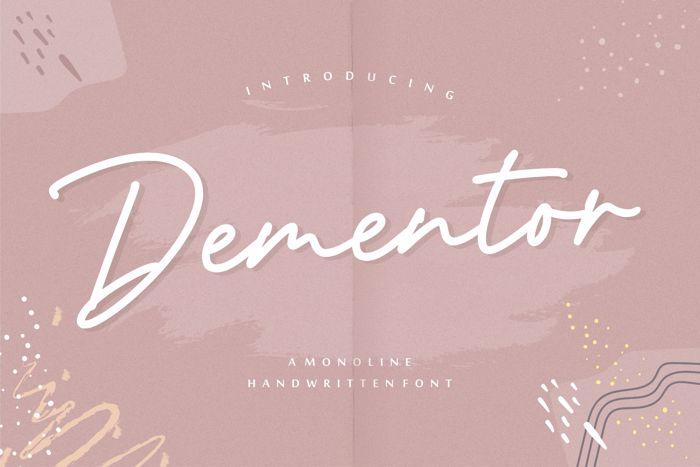 Dementor Font poster