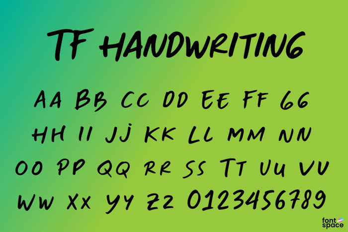 TF-Handwriting Font poster