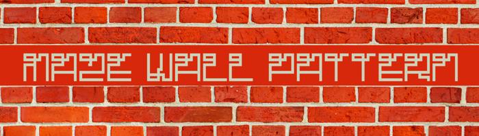 Maze Font poster