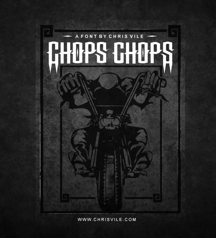 Chops chopS Font poster