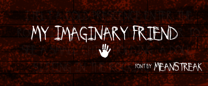 My Imaginary Friend Font poster